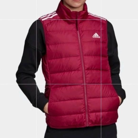 Adidas Light Down Parka Vest Fucsia S